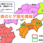 高知県の脱毛地図