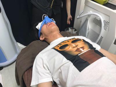 笑気麻酔に酸素注入